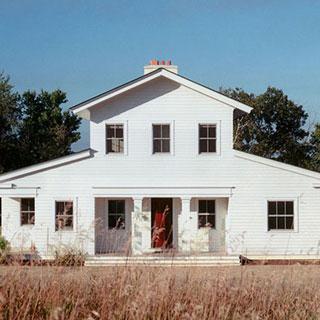 classic architecture white Shaker style farmhouse