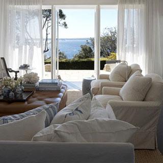 interior designed white casual linen beach curtains cotton