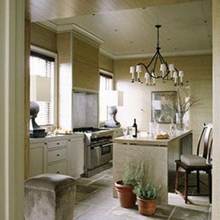 limestone kitchen muted colors