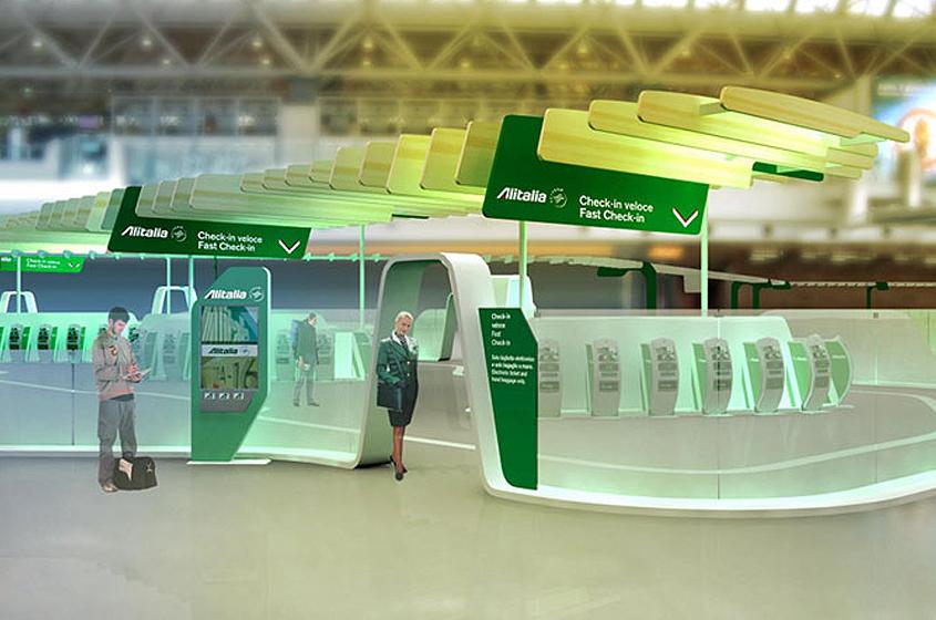 Alitalia airline modern airport architecture