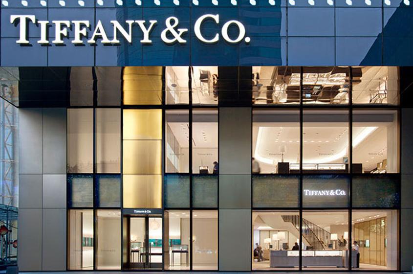 facade Tiffany & Co. Shanghai glass panels elegance