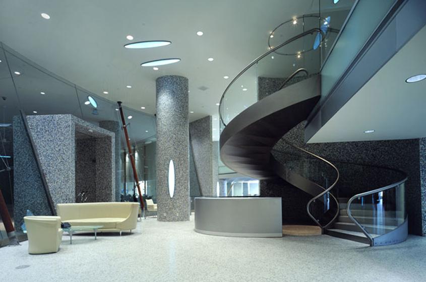 luxury auto showroom Miami, Florida curves,glass, shiny, evoke cars
