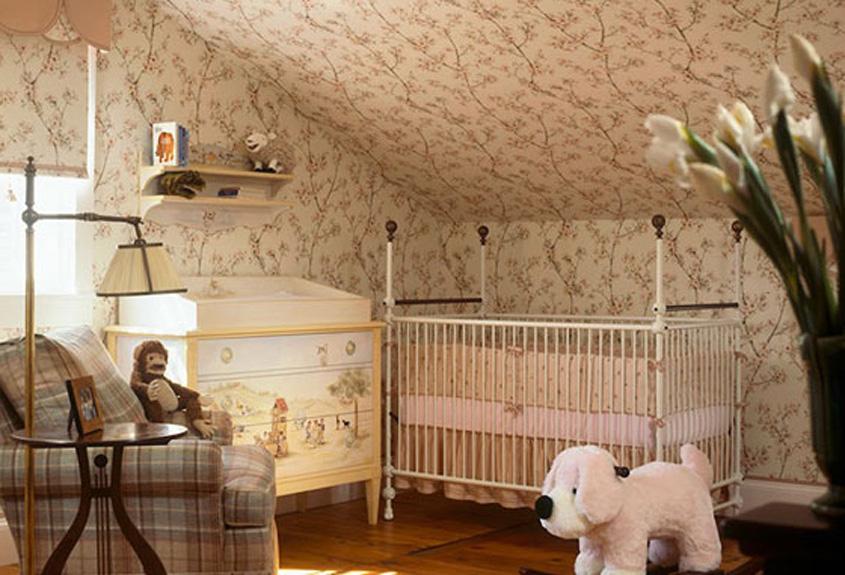 cherry blossom wallpaper infants room