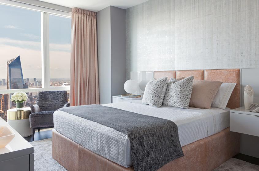 sumptuous fabrics master bedroom New York CIty