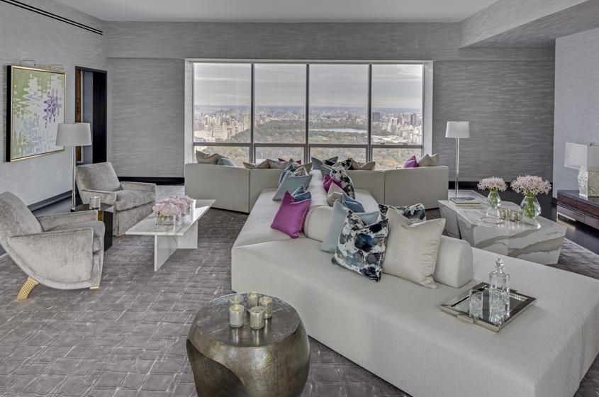angular sofa added drama to views