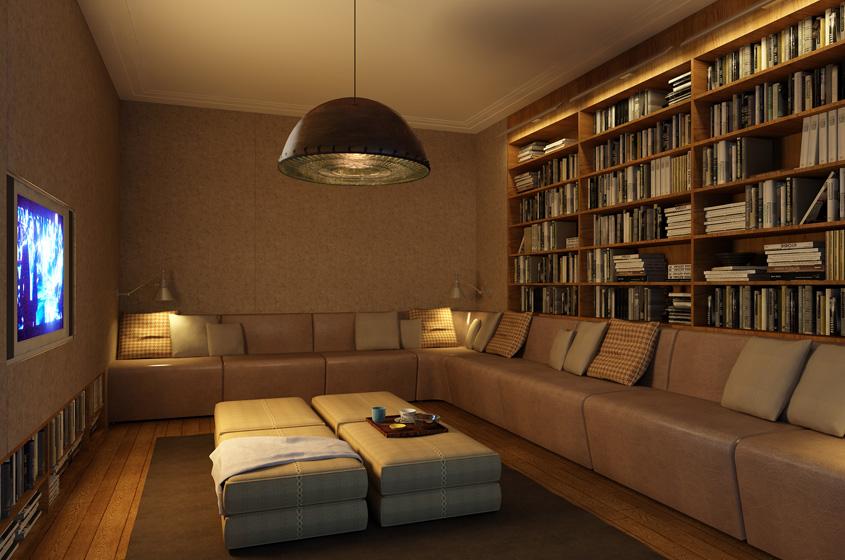 library media room development condominium building