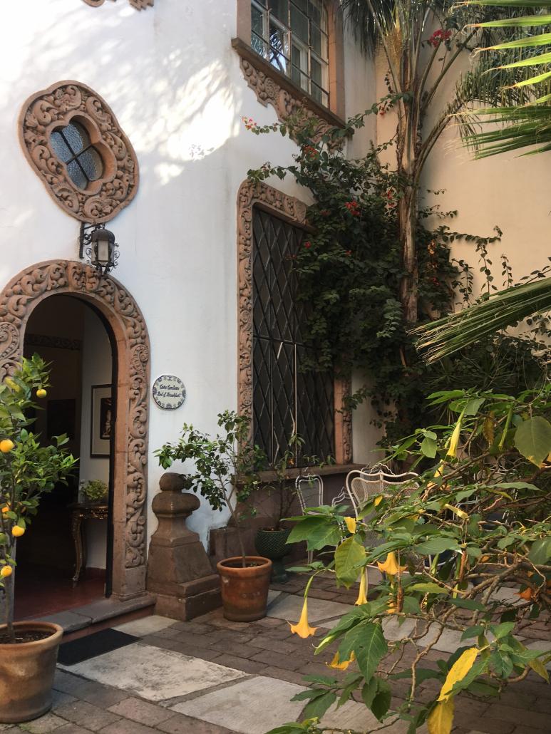 garden entrance Mexico city detail