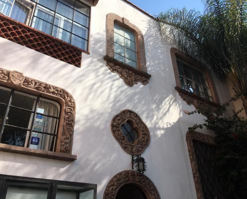 facade mexico city Condesa original detail