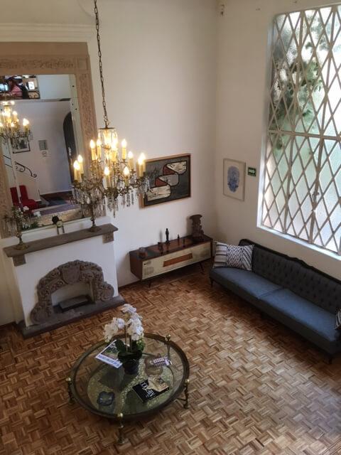 historical 1940s house living room window